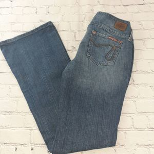 Hint Jeans Distressed Boot Cut Womens Size 3